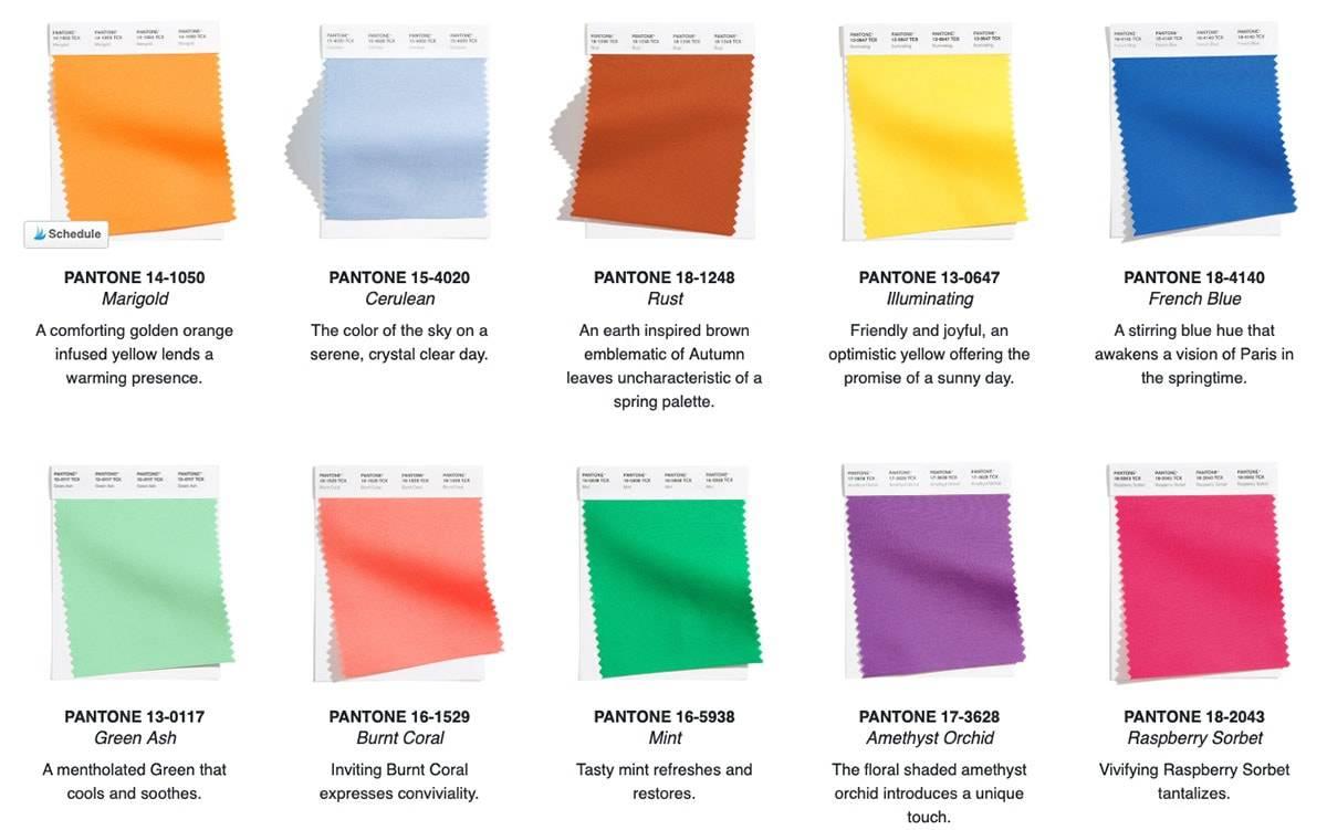 Pantone рассказал о главных цветах весны 2021 г