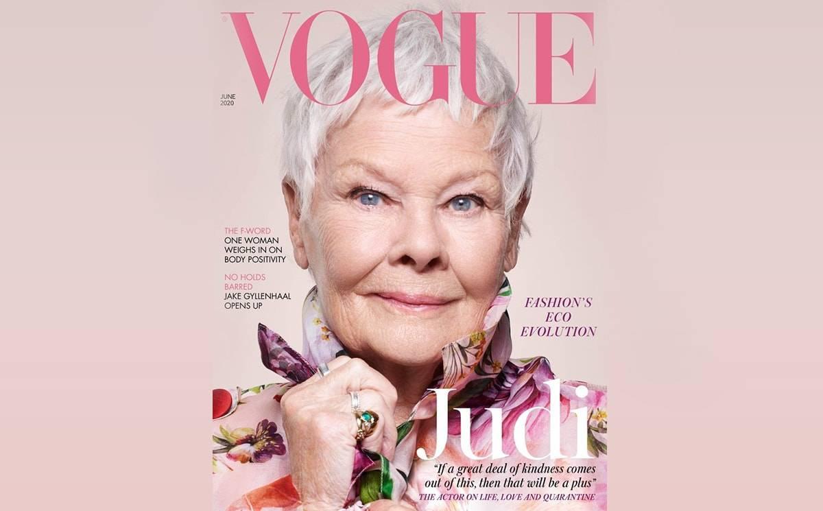 85-летняя Джуди Денч украсила обложку Vogue