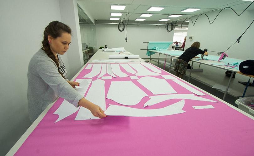 Работы по созданию предприятия по производству одежды