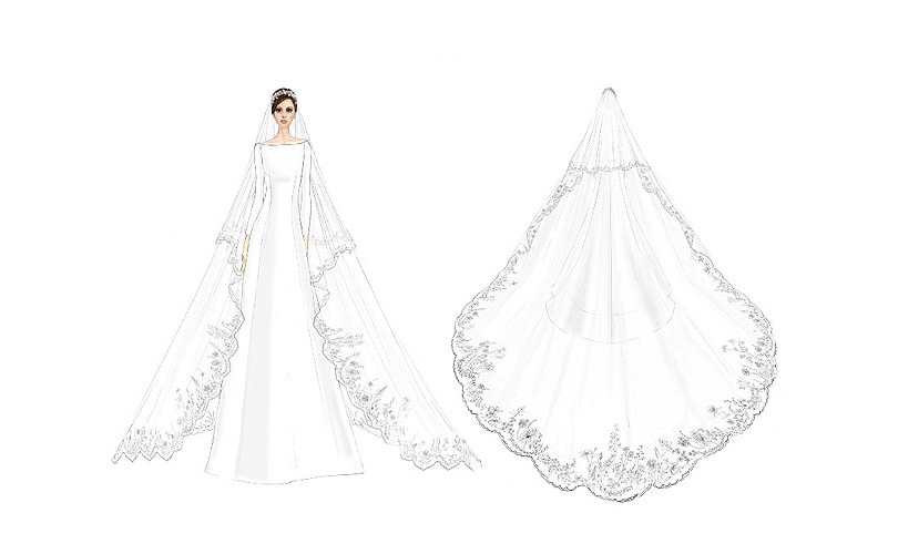 58f74b89af2 Обнародованы официальные эскизы свадебного платья Меган Маркл